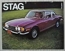 TRIUMPH STAG USA Car Sales Specification Leaflet c1972 #ST721