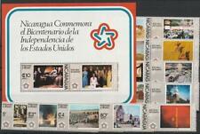 Nicaragua aus 1976 ** MiNr. 1930-1945 postfrisch Block 93 200 Jahre Unabh. USA