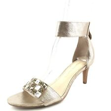 Franco Sarto Evelina Champagne Leather Ankle Strap Sandals Women's Size 6.5  ...