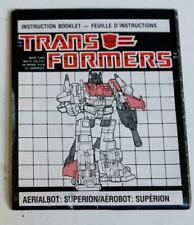 Hasbro Transformers G1 Superion Bi-Lingual Canadian Instruction Booklet