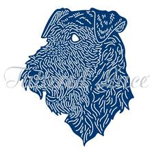 Tattered Lace Airedale Terrier ETL576 metal craft cutting die dies set dog pet