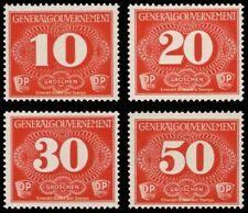 EBS Generalgouvernement 1940 Occupied Poland Special Delivery Michel Z1-4 MNH**