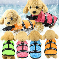 Pet Vest Dog Life Jacket Safety Reflective Stripe Preserver Swimming Clothes HOT