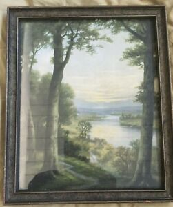 Zula Kenyon Original Framed Print River View from the  Forest