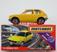 2020 Matchbox Power Grabs #45 '76 Honda Civic CVCC CAROLINE YELLOW / MIB