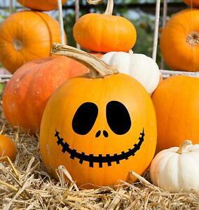 Spooky Face Pumpkin Decoration Sticker Halloween Vinyl Decal Window Wall Door