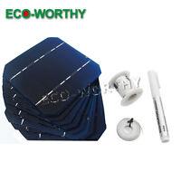 20pcs125x125mm Mono Solar Cells Kit w/Tab Bus Wire & Flux Pen for DIY 50W Panel