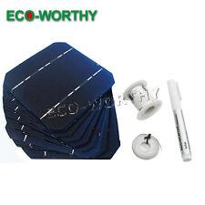 Kit de células solares 20 un.125x125mm Mono Con Ficha Cable de Bus & lápiz de flujo para armar uno mismo de panel 50W