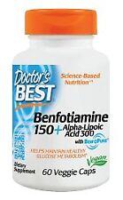 Best Benfotiamine 150 + Alpha-Lipoic Acid 300 Doctors Best 60 VCaps