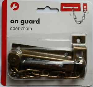 STRONG DOOR SAFETY SECURITY CHAIN GUARD PEEP BOLT LOCK EB AND SCREWS