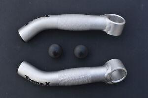 Bar ends horn bull bar alloy Tranz X components silver colour mtb bmx new 140 14