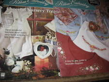 3 RIBBON EMBROIDRY craft books BUCILLA step by step guide pattern book