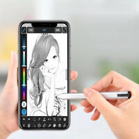 WIWU P888 Universal Capacitive Touch Screen Stylus Pen with Holder -Black/Silver