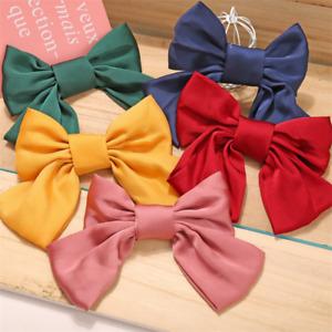 Women Fashion Girls Large Bow Elastic Hair Ropes Hair Clip Hair Ties Head Band