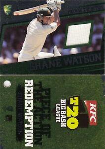 2012-13 T20 Big Bash League Cricket Shane Watson Memorabilia Card #84/100