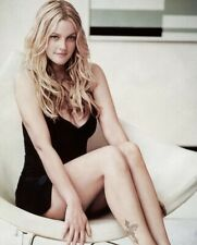 DREW BARRYMORE -SITTING WITH A BLACK DRESS ON !!!