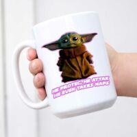 Baby Yoda Mandalorian Birthday Christmas Gift White Mug Coffee Mug Tea Cup