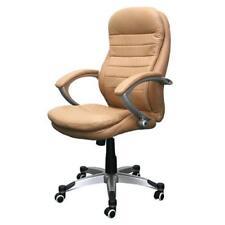 Chaise de bureau beiges en cuir pour la maison