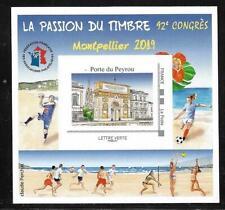 BLOC FFAP   DENTELE  LA PASSION DU TIMBRE  MONTPELLIER  2019  92° CONGRES..