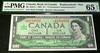 1967 Replacement / Star BC-45bA-i BANK OF CANADA $1 PMG GRADED 65