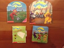 LOT 4 Books Teletubbies It's Tubby Bedtime Po's Magic Watering Can Love To Jump