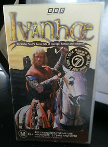 Ivanhoe VHS Part One + Part Two BBC Edition MA15+ VGC Heroic Drama Romance