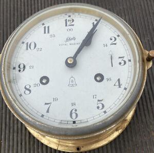 Vinyage Shatz Ships Bell Royal Mariner 8 Day Windup Clock Maritime Nautical Grmy