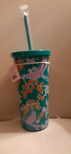 Kate Spade New York BIRD PARTY Tumbler Insulated w/Lid &Straw-NWT