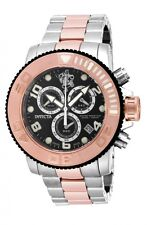 New Mens Invicta 17992 Sea Base Swiss Made Chronograph Rose Gold Two Tone Watch