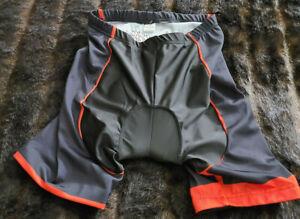 LYCRA Mens Large Black Red Cycling Shorts