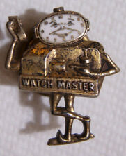 Watch Master Timing Machine Sterling / Enameled Employee Pin - SB