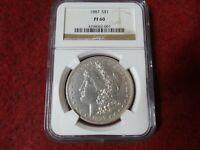 1887 Morgan Dollar Proof,NGC PR61, FMV $1,380