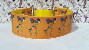 Floating hound by nellie doodles . 50mm Martingale Collar. Greyhound