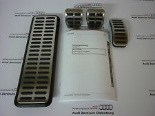 Original Audi A1 Pedalkappen im Satz inkl. Fußstütze, für Schaltgetriebe