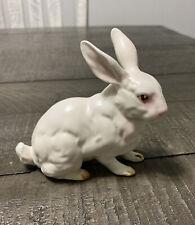 New ListingVintage Lefton White Porcelain Bisque Sitting Rabbit Bunny Figurine H880 Japan