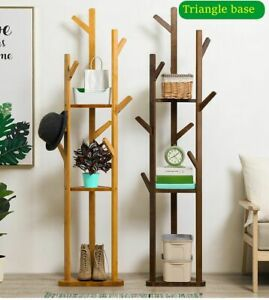 Free Standing Bamboo Material Clothes Hat Rack Tree Branch Design