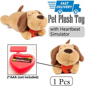 Anxiety Behavioral Aid Puppy Cat Toy Heartbeat Soft Plush Sleeping Buddy Pet Dog