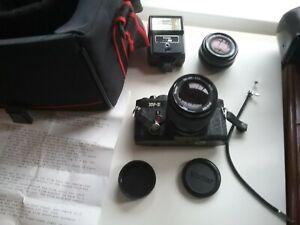 Vivitar XV-2 35mm SLR Film Camera with 28mm f2.8 plus f3.5 49mm lens
