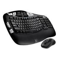 Logitech Wave MK550 Desktop Wireless Multimedia Keyboard Laser Mouse Kit - Black