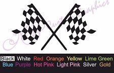 ** CHECKERED RACE FLAGS ** Car Decal, Vinyl, Drift Sticker, JDM, EURO, DUB