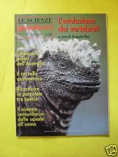LE SCIENZE QUADERNI N°107 L'EVOLUZIONE DEI VERTEBRATI APRILE 1999