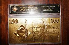 **SALE** RANDOMLY SELECTED 24KT GOLD FOIL 999.9 GOLD BANK NOTES IN COA PACK