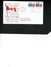 CANADA  1971 COMPUTER TAPE & REELS PAIR  on FDC used   # 542  BOX 521
