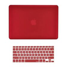 """WINE RED Rubberized Hard Case + Keyboard Cover for Macbook Air 13""""  A1369 /A1466"""