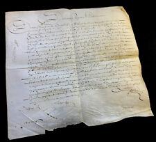 DOCUMENT ON PARCHMENT 1645