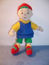 """CAILLOU - PLUSH BEANIE DOLL 7-8"""" CINAR 2001 RED CAP TURNED BACKWARDS - VGC"""