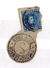 España 1901 25c Rey ALFONSON XIII en pieza pasó censor Cape Town X4417