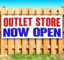 Outlet Store Now Open Advertising Vinyl Banner Flag Sign Many Sizes Restaurant