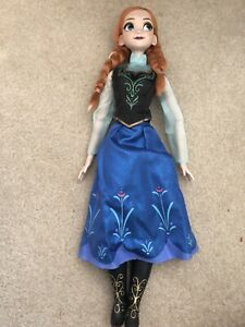 17 Inch Singing Anna Doll Frozen Disney Store First Time In Forever