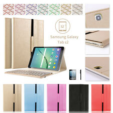 """7 Colors Backlit Bluetooth Keyboard Case for Samsung Galaxy Tab S2 9.7""""T810/815"""